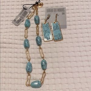 Robert Lee Morris RLM Gold and turquoise set NWT!